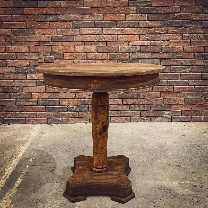 Mango wood round table pedestal   lucky-furniture-handicrafts.