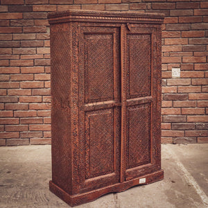 Copper Finish Vintage Cabinet