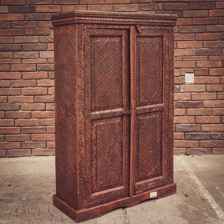 Copper Finish Vintage Cabinet   lucky-furniture-handicrafts.
