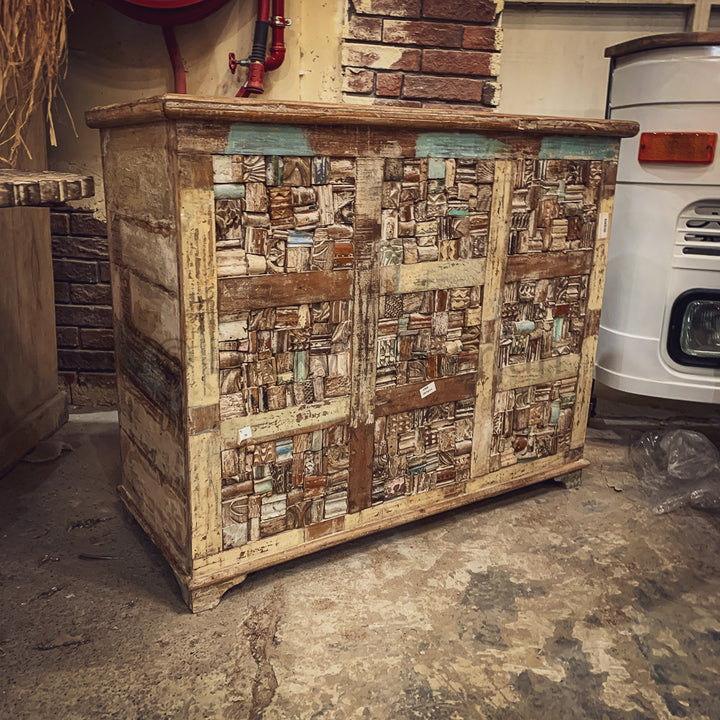 Recycle Block design box console   lucky-furniture-handicrafts.