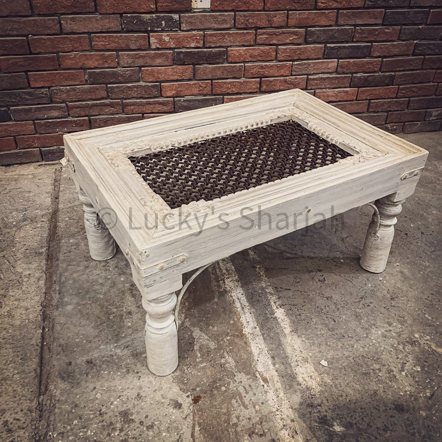 Knotted Grill Coffee table with glass top   lucky-furniture-handicrafts.