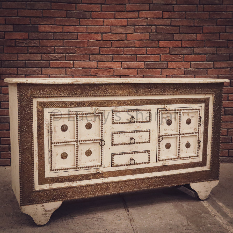 Brass Inlay damchiya sideboard   lucky-furniture-handicrafts.