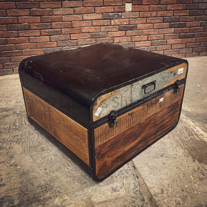 "Recycled wood ""suitcase"" box"