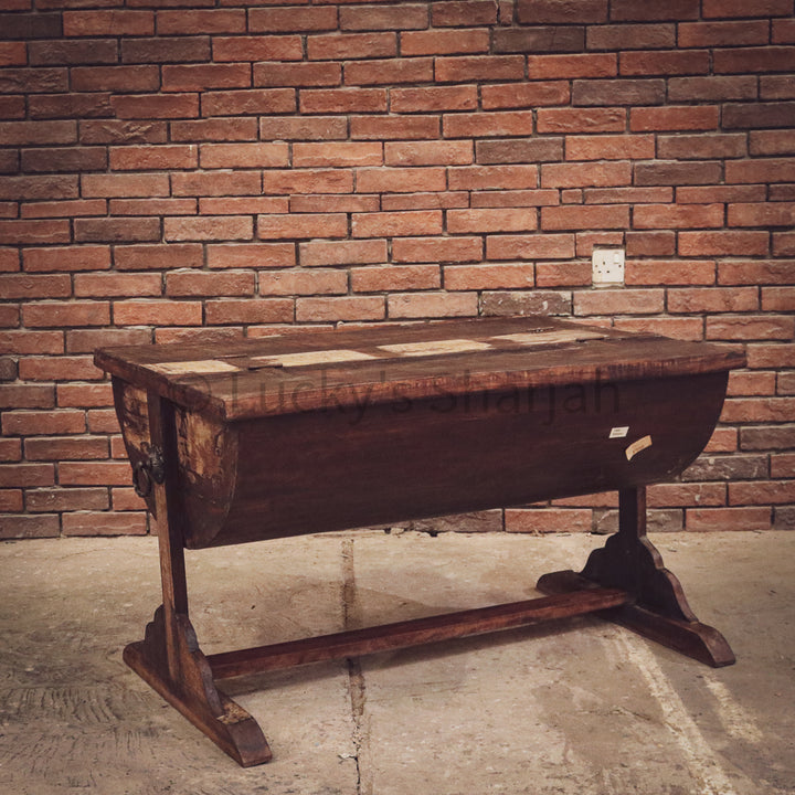 Recycled barrel table box   lucky-furniture-handicrafts.