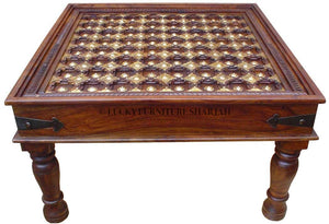 Brass Inlay Table  simple lucky-furniture-handicrafts.