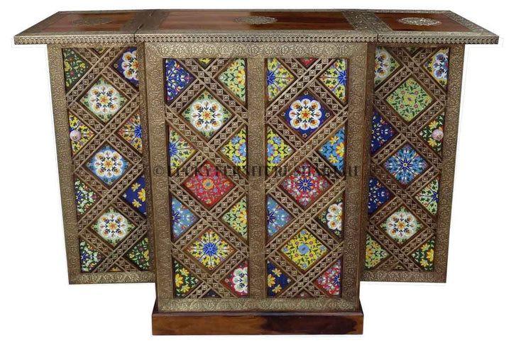 Mosaic Tile Folding Bar  simple lucky-furniture-handicrafts.