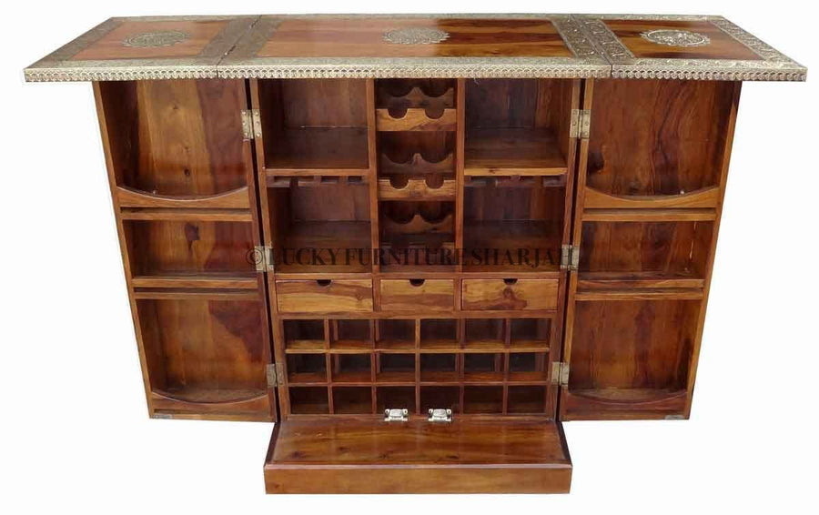 Brass Panel Folding Bar  simple lucky-furniture-handicrafts