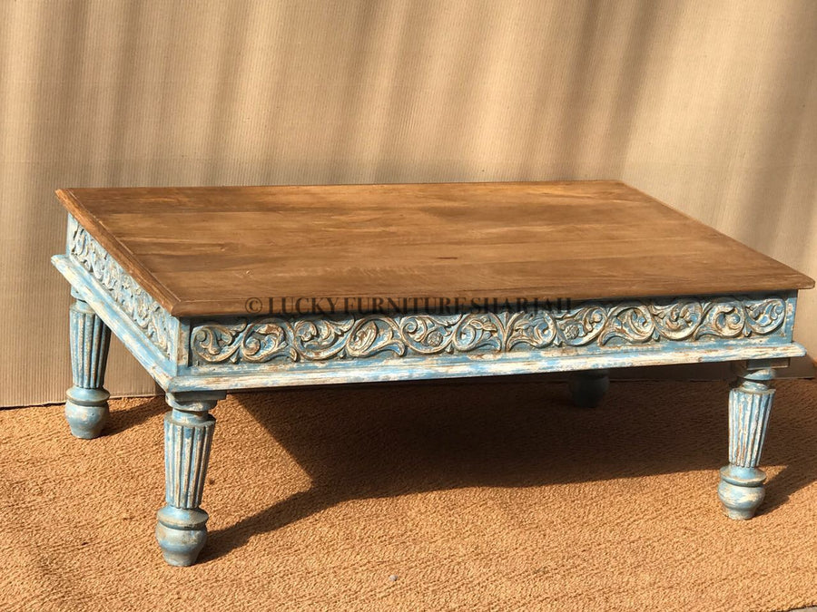 Side Carved Coffee Table  simple lucky-furniture-handicrafts.