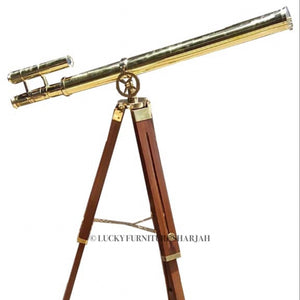 Tripod Brass Telescope  simple lucky-furniture-handicrafts