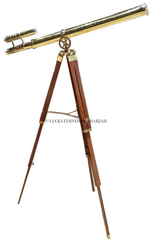 Tripod Brass Telescope  simple lucky-furniture-handicrafts.