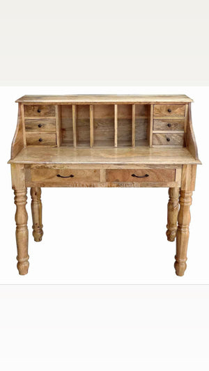 High Back Mango Wood Desk  simple lucky-furniture-handicrafts