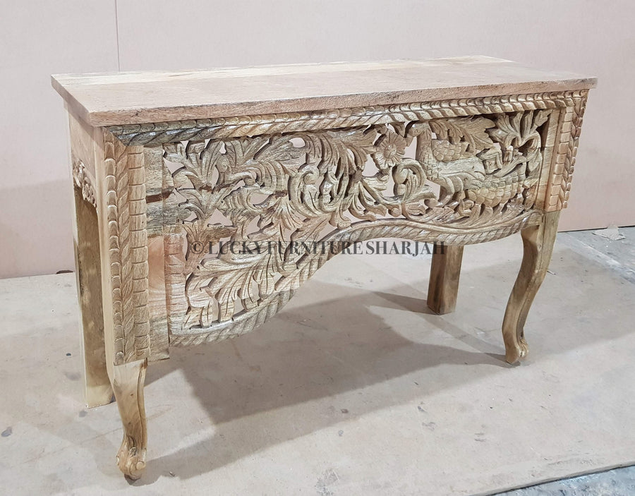 Hand Carved Console  simple lucky-furniture-handicrafts.