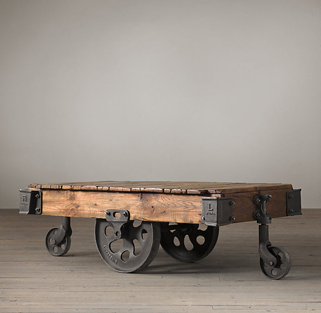 Industrial Cart Coffee Table  simple lucky-furniture-handicrafts.