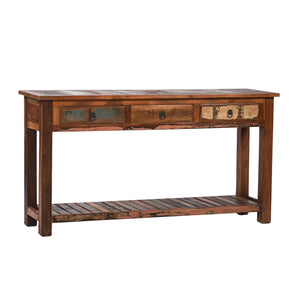 Reclaimed Wood 3 Draw Console  simple lucky-furniture-handicrafts.