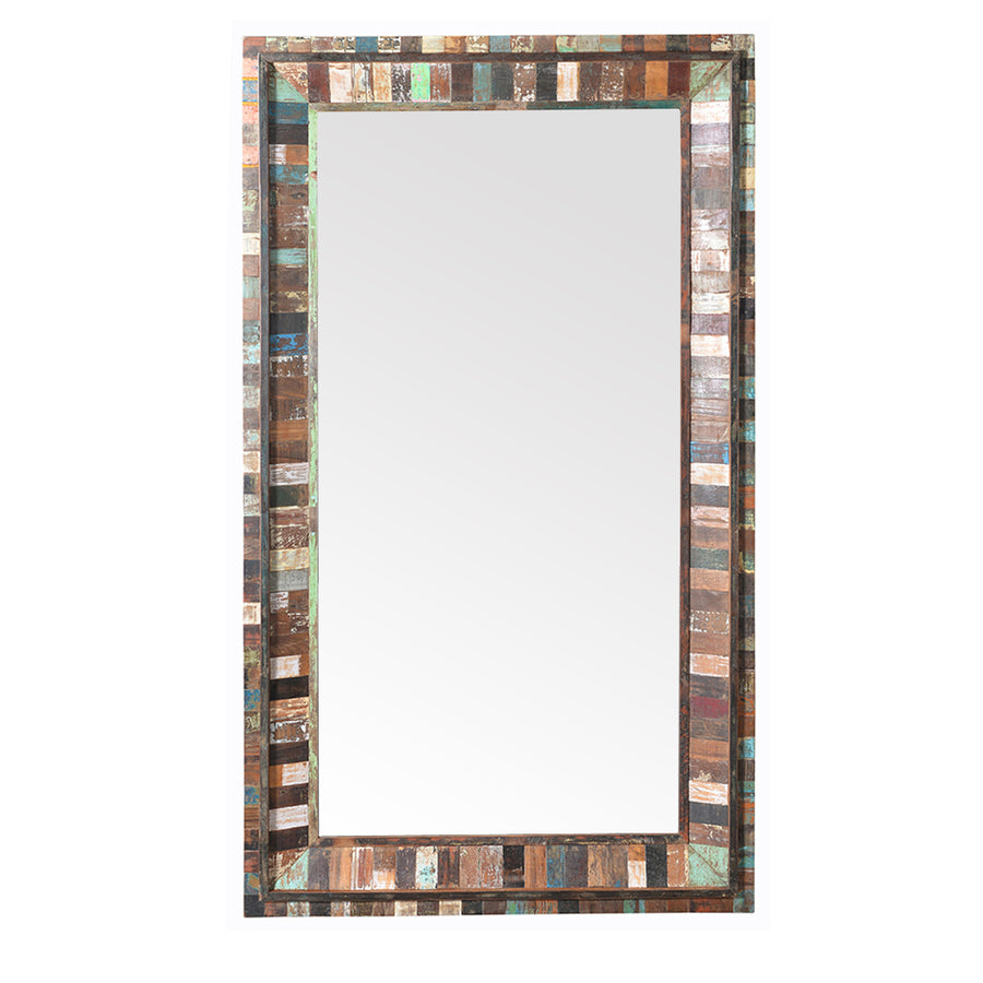 Reclaimed Wood Mirror Frame  simple lucky-furniture-handicrafts.