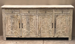 Carved 4 Door Sideboard  simple lucky-furniture-handicrafts