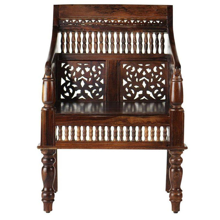 Carved Bench Single Seater  simple lucky-furniture-handicrafts.