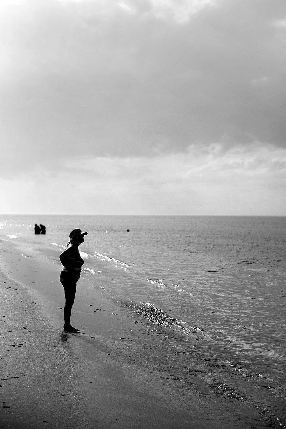 Woman at Beach, Cape Cod, Massachussets