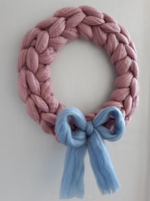 Chunky Knit Wreath Kit
