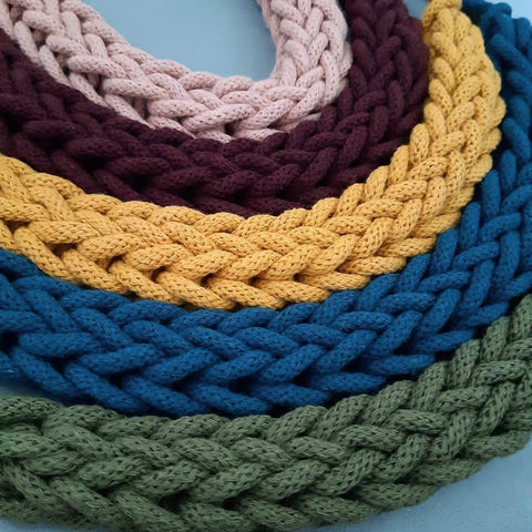 Finger Knitted Necklace