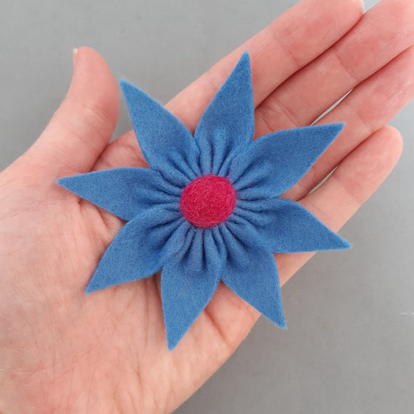 Felt Star Flower Brooch Kit