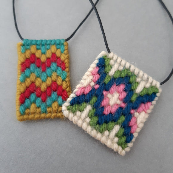 Bargello Necklace Online Workshop