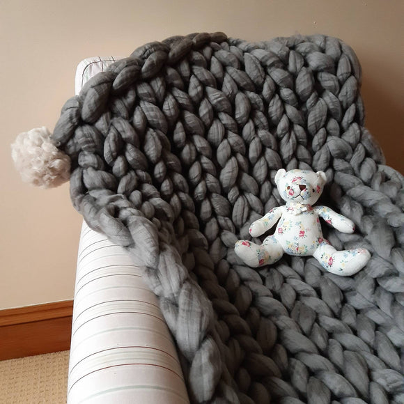 Arm Knitted Blanket Online Workshop
