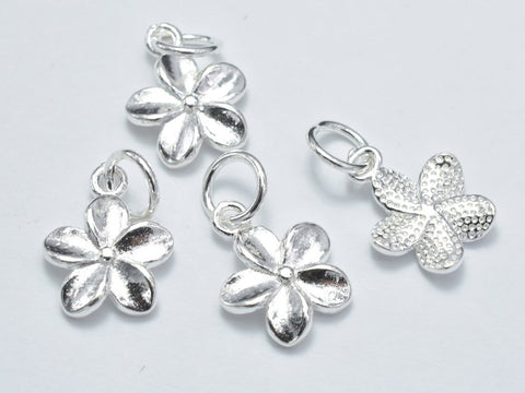Flower silver charms