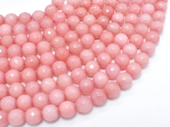 Jade-Pink, 8mm (7.8mm) Faceted Round-Ebeader