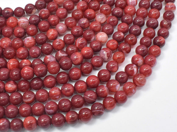 Red Fire Agate, 6mm Round Beads-Ebeader