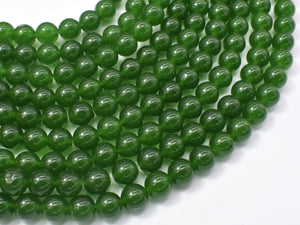 Jade Beads-Green, 8mm (8.3mm) Round Beads-Ebeader