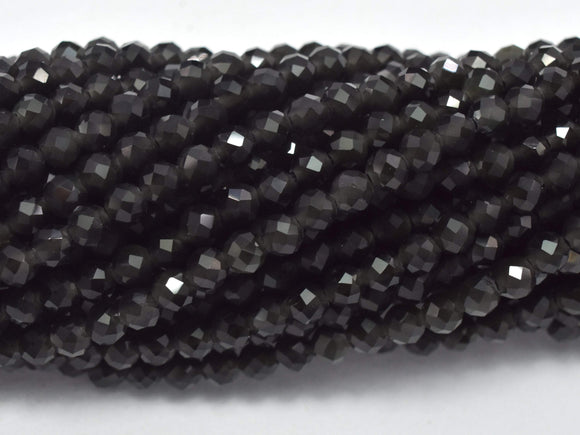 Rainbow Obsidian Beads, 3mm (3.3mm) Micro Faceted Round