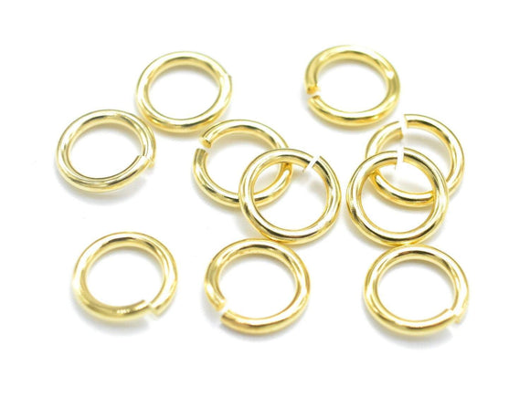 300pcs 6mm Open Jump Ring, 0.8mm (20gauge), Gold Plated-Ebeader