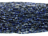 Sodalite Beads, 4mm Faceted Round Beads-Ebeader