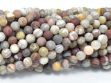 Matte Mexican Crazy Lace Agate Beads, 6mm Round Beads-Ebeader