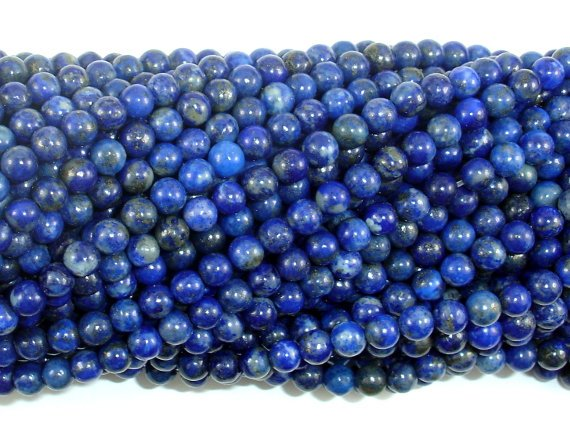 Natural Lapis Lazuli, 4mm Round Beads