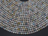 Beryl Beads, Morganite, Aquamarine, Heliodor, 6mm-Ebeader
