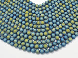 Druzy Agate Beads, Blue Geode Beads, Approx 8 mm(8.4mm) Round-Ebeader