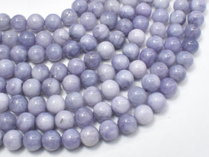 Jade Beads-Gray, 8mm Round Beads-Ebeader