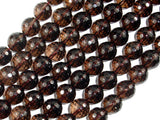 Smoky Quartz Beads, 10mm Faceted Round Beads-Ebeader