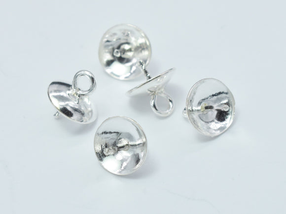 10pcs 925 Sterling silver Cup, 6x6.5mm, For half hole beads