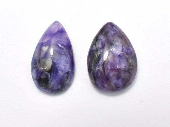 Charoite Cabochon, Teardrop, Free Form , Size vary-Ebeader