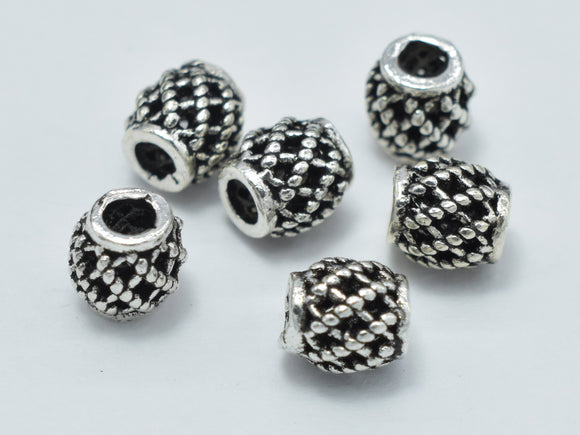 10pcs 925 Sterling Silver Beads, Drum Beads, Spacer Beads, 4x4.3mm-Ebeader