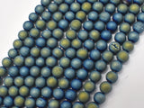 Druzy Agate Beads, Blue Gold Geode Beads, 6mm (6.4mm)-Ebeader