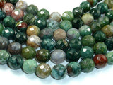 Indian Agate, 12mm Faceted Round-Ebeader