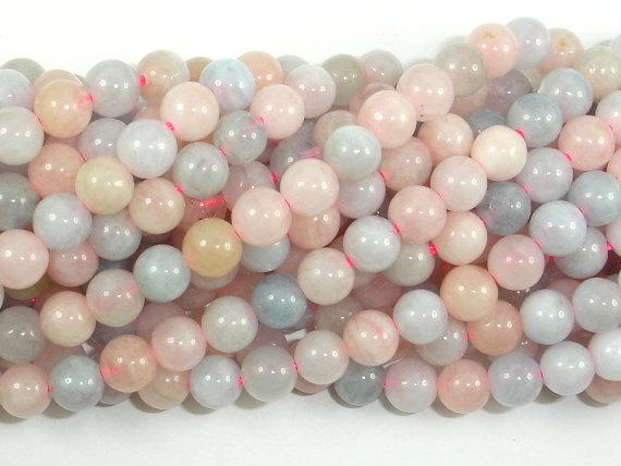 Beryl Beads, Aquamarine, Morganite, Heliodor, 5mm, round-Ebeader