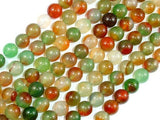 Agate Beads, Round, 8mm, 15.5 Inch-Ebeader