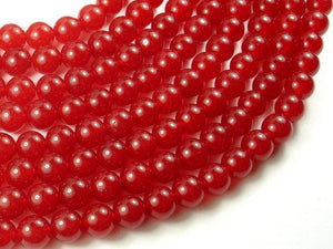 Red Jade Beads, 10mm Round Beads-Ebeader