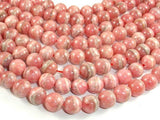 Rhodochrosite Beads, 9mm Round Beads-Ebeader