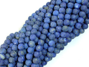 Matte Natural Lapis Lazuli Beads , 6mm Round Beads-Ebeader